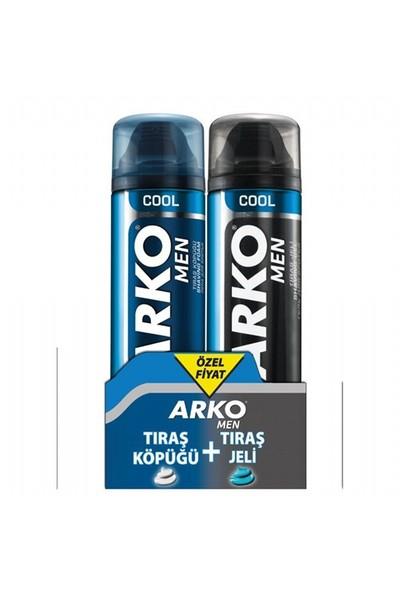 Arko Men Cool Tıraş Jeli 200 Ml + Tıraş Köpüğü
