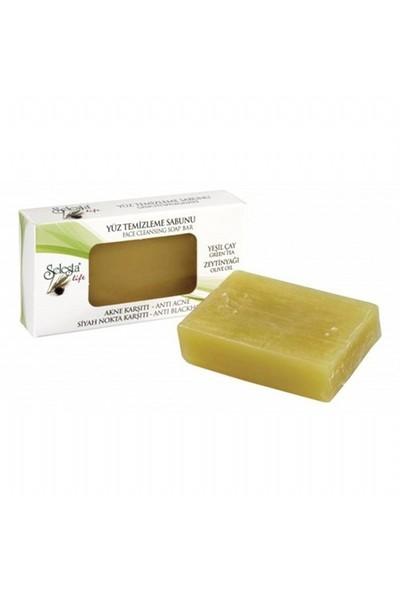 Selesta Zeytinyağlı Katı Sabun Yeşil Çay 100 Gr