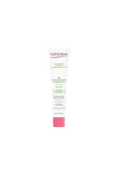 Topicrem AC Compensating Moisturizing Cream 40ml - Yağlı Ciltler İçin Yatıştırıcı ve Nemlendirici Krem