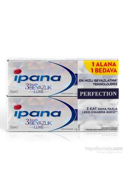 İpana 3 Boyutlu Beyazlık Luxe Diş Macunu Perfection 75 ml (1 Alana 1 Bedava Paketi)