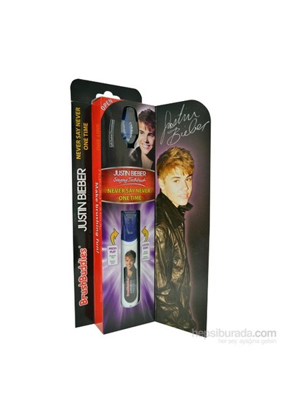 Brush Buddies Justin Bieber Müzikli Diş Fırçası Never Say Never &One Time