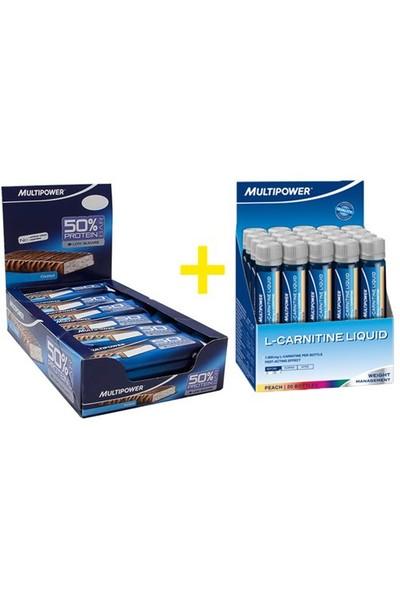 Multipower L-Carnitine Liquid + 24 Adet %50 Protein Bar