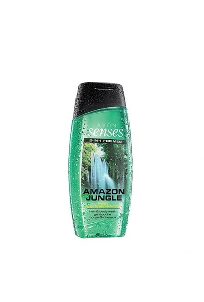 Avon Senses 2-In-1 For Men Amazon Jungle Saç & Vücut Şampuanı 250Ml