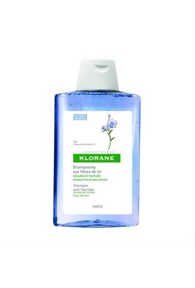 KLORANE Shampooing fibres de lin 400 ml - Keten lifi içeren şampuan (ince telli, hacimsiz saçlar)