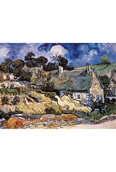 Ricordi Puzzle The Church t Auvers, Van Gogh (1000 Parça)
