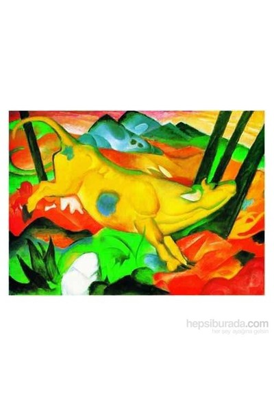 The Yellow Cow, Franz Marc (1000 Parça)