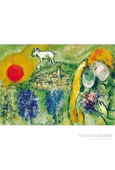 Les Amoureaux De Vence, Marc Chagall (1500 Parça Puzzle)