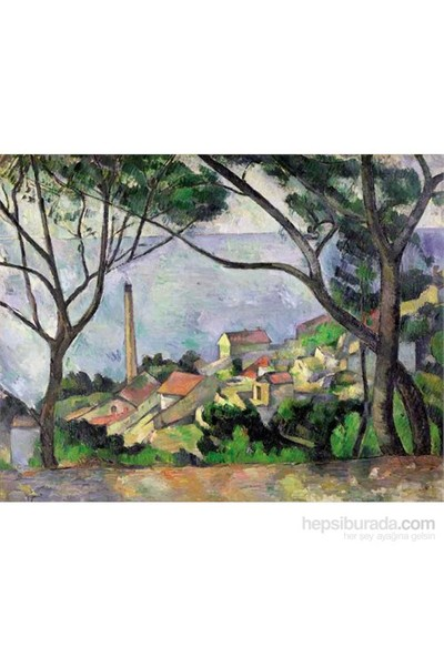 Vue De L'estaque 1878, Cezanne (1500 Parça Puzzle)
