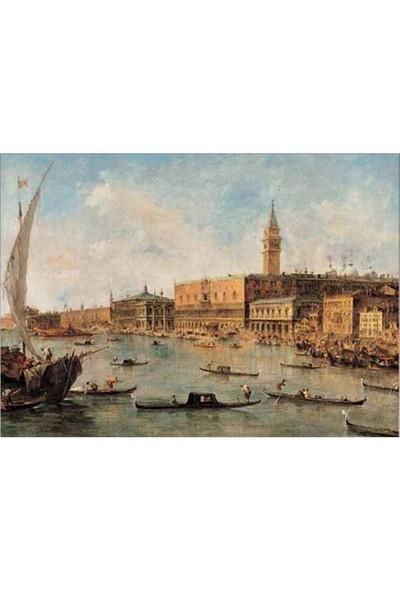 Ricordi Puzzle Veduta di Venezia, F. Guardi (2000 Parça)
