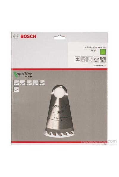 Bosch - Optiline Serisi Ahşap İçin Daire Testere Bıçağı - 235 X 30/25 X 2,8 Mm, 48 Diş