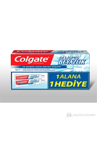 Colgate Gelişmiş Beyazlık 75ml Diş Macunu - 2.Tüp Hediye