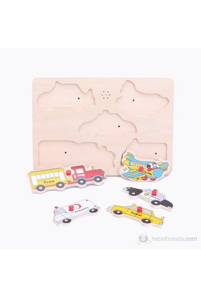 Belinda Toys Ahşap Puzzle Taşıtlar