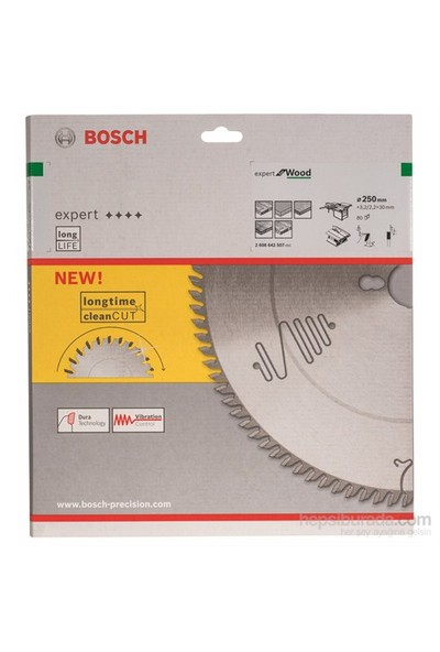Bosch - Expert Serisi Ahşap İçin Daire Testere Bıçağı - 250 X 30 X 3,2 Mm, 80 Diş