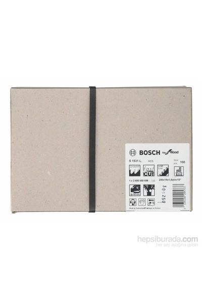 Bosch - Top Serisi Ahşap İçin Tilki Kuyruğu Bıçağı S 1531 L - 100'Lü Paket