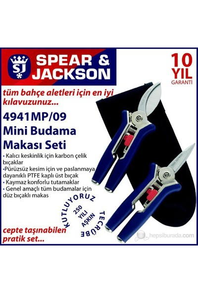 Spear And Jackson 4941Mp Mini Budama Makası Seti 2 Parça
