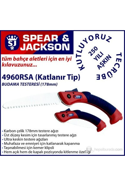 Spear And Jackson 4960Rsa Budama Testeresi Katlanır Tip 178 Mm