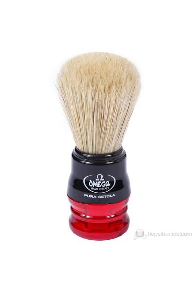 Omega Tıraş Fırçası 10077 (Kırmızı)