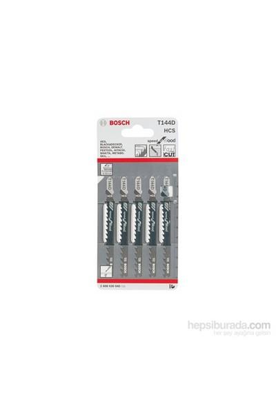 Bosch - Hızlı Kesim Serisi Ahşap İçin T 144 D Dekupaj Testeresi Bıçağı - 5'Li Paket
