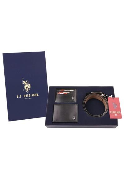 U.S. Polo Assn. Kemer-Cüzdan-Kartlık Set