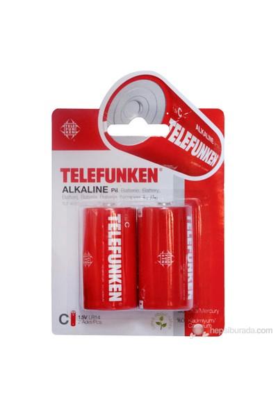 Telefunken Alkalin C 2'li Orta Boy Pil ( 4023 )