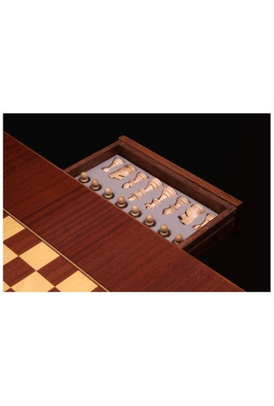 E4 Satranç Ahşap Satranç Masası