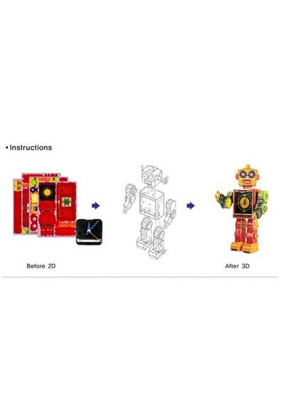 Scholas Robot Clock-Tibot 3 Boyutlu Puzzle