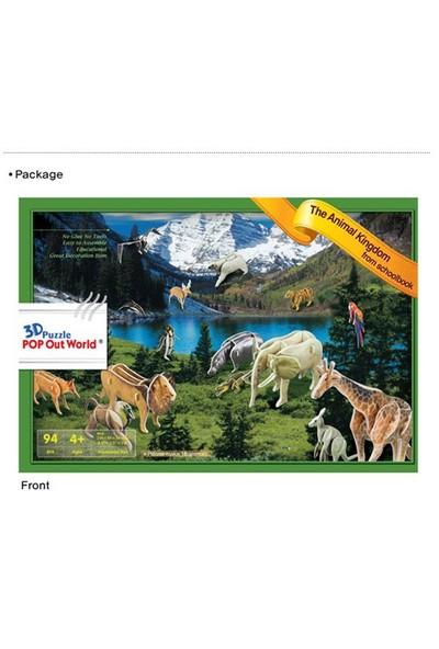 Scholas The Animal Kingdom From Schoolbook 3 Boyutlu Puzzle