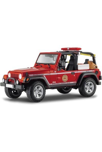 Maisto 2003 Jeep Wrangler Rubicon Model Araba 1:18 Premiere Edition Kırmızı