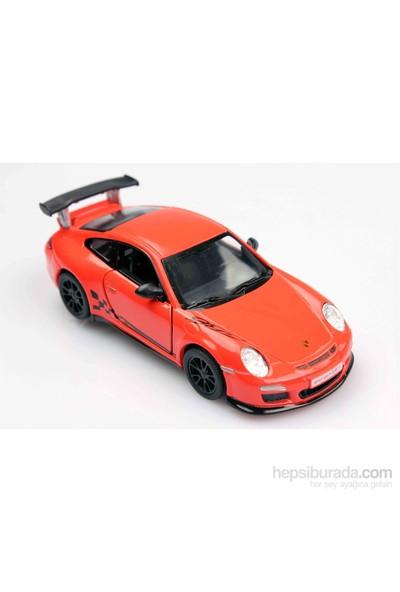 Turuncu 2010 Porsche 911 Gt3 Rs 1/36 Çek Bırak Die-Cast Model Araç