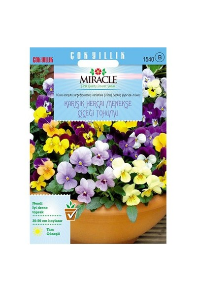 Miracle Tohum Karışık Renkli Hercai Menekşe Tohumu (400 Tohum)