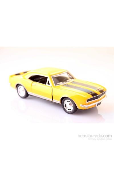 Sarı 1967 Camaro Z-28 1/37 Çek Bırak Die-Cast Model Araç