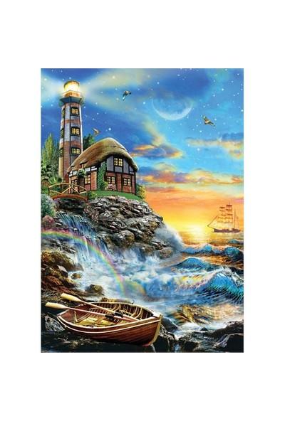 Ks Games 500 Parça Twilight Lighthouse Puzzle (Adrian Chesterman)