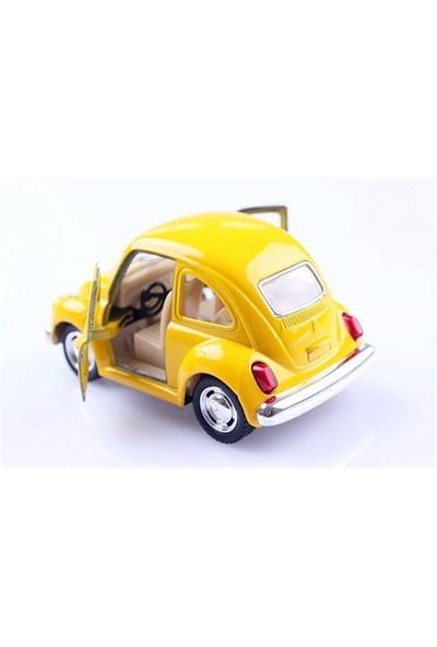 Diecast 1967 Volkswagen Classical Beetle Die Cast Çek Bırak Model Araba