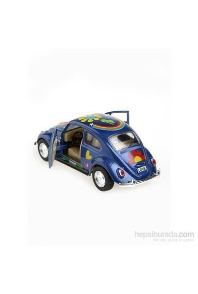 Kinsmart 1967 Volkswagen Classical Beetle 1/32 Çek Bırak Die Cast Model Araç Mavi