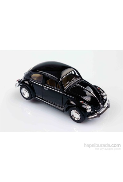 Kinsmart 1967 Volkswagen Classical Beetle 1/32 Çek Bırak Die Cast Model Araç Siyah