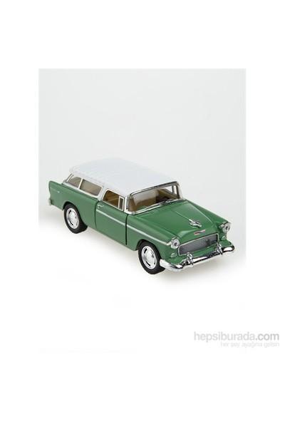 Kinsmart 1955 Chevy Nomad Çek Bırak 1/40 Die Cast Model Araç Yeşil