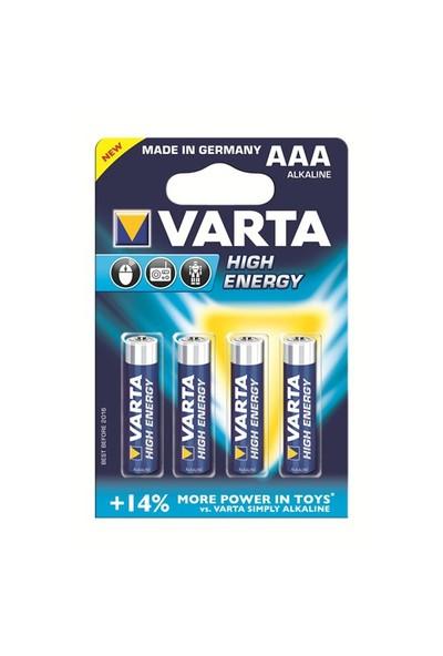 Varta High Energy Güçlü Alkalin Seri İnce Pil - AAA 4'lü 4903121414