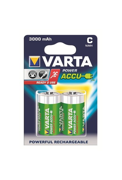 Varta Power Accu Ready 2 Use Orta Pil - C 3.000mAh 2'li 56714101402