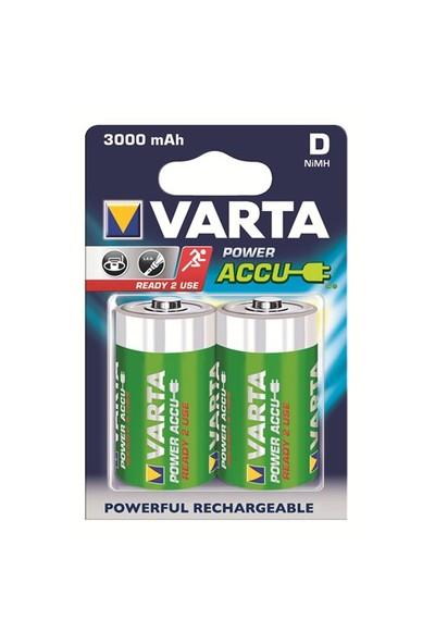 Varta Power Accu Ready 2 Use Büyük Pil - D 3.000mAh 2'li 56720101402