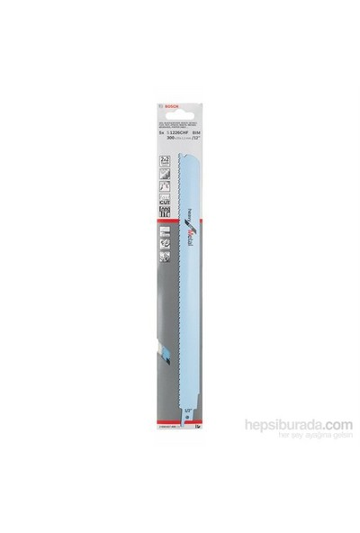 Bosch - Heavy Serisi Metal İçin Tilki Kuyruğu Bıçağı S 1226 Chf - 5'Li Paket