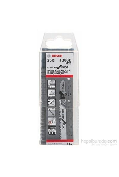 Bosch - Ekstra Temiz Kesim Serisi Ahşap İçin T 308 B Dekupaj Testeresi Bıçağı - 25'Li Paket