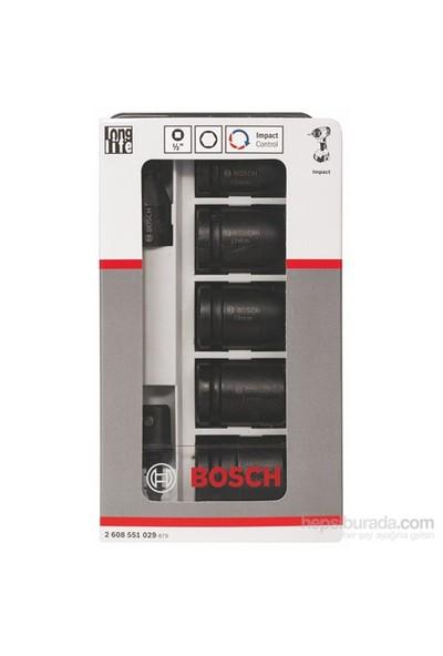 Bosch - Impact Control Serisi 7 Parçalı Lokma Anahtarı Takım Seti - Sw13: Sw17: Sw19: Sw21: Sw24: 40 Mm: 2 Adaptör