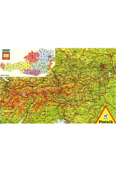 Piatnik Puzzle Harita (1000 Parça)