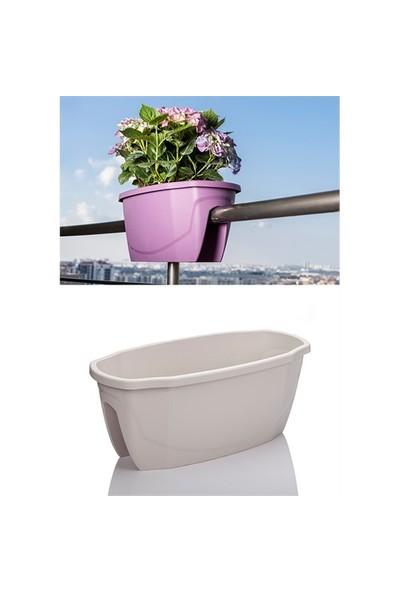Mini Garden Zümrüt Büyük Saksı Beyaz