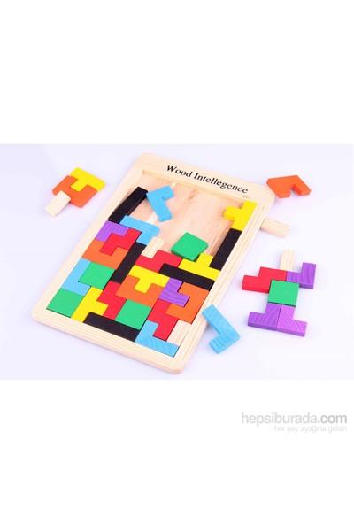 Wooden Toys Ahşap Blok Tetris Zeka Oyunu