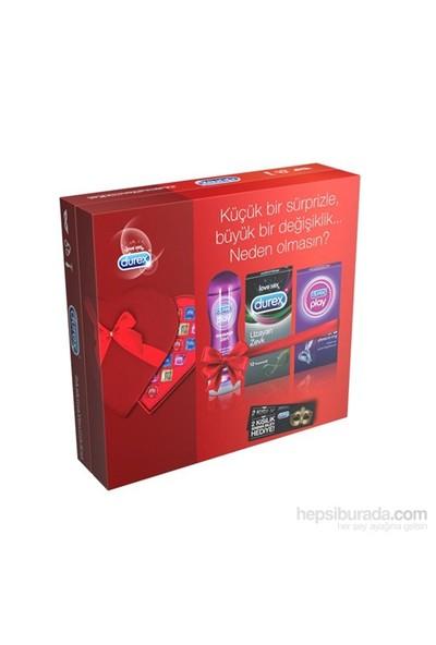 Durex AŞK Paketi - ( Durex Uzayan Zevk 12li + Durex Play Ultra + Durex Play Masaj Jeli ve Kayganlaştırıcı 200 ML)