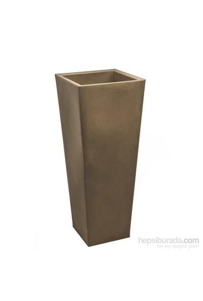 Teraplast Pasubıo Alto (Cappuccıno) Plastik Saksı