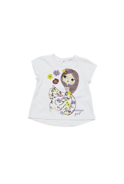 Zeyland Kız Çocuk Beyaz T-Shirt - K-61M2LIU53