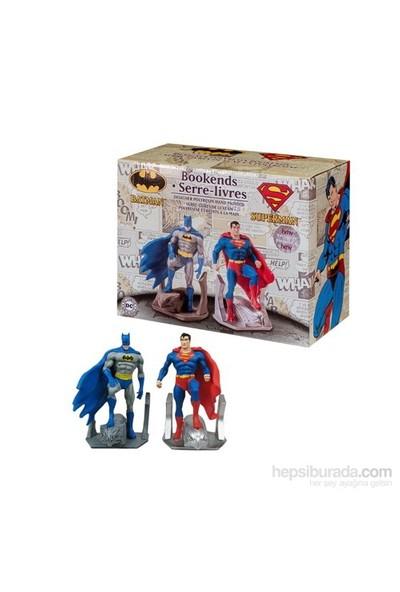 Batman Superman Resin Bookend Statues