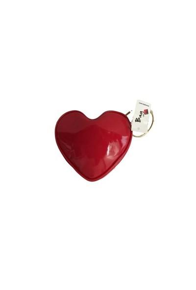 Bag Kalp Makyaj Çantası Kırmızı